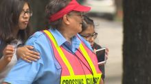 School rallies behind beloved crossing guard as she battles cancer