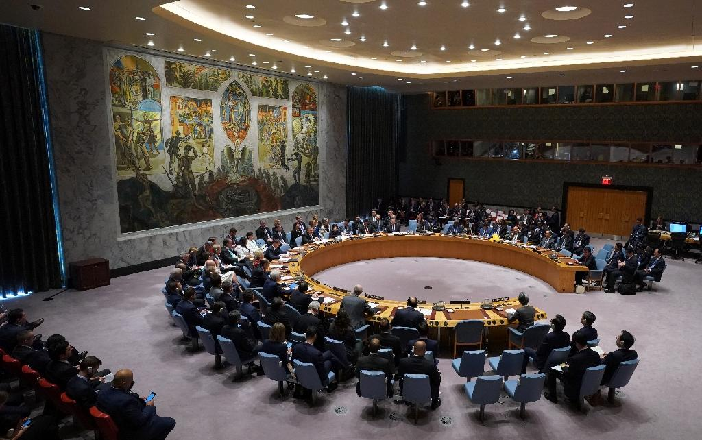 The UN Security Council met behind closed doors at the request of France and Britain to discuss Iran's missile test (AFP Photo/Don EMMERT)