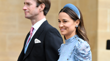 Pippa Middleton's Dress Provided the 'Something Blue' at the Royal Wedding This Weekend