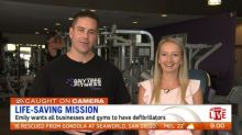 Woman lucky to be alive after going into cardiac arrest at gym