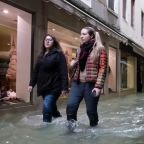 Venice hit by record 3rd exceptional tide in same week as Italian officials warn of city sinking