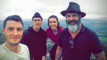 Hikers bump into Mel Gibson up a mountain