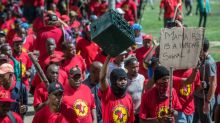 S.African protests over new minimum wage