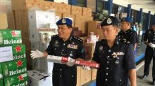 Marine police seize contraband cigarettes, alcohol worth RM700,000 in Johor