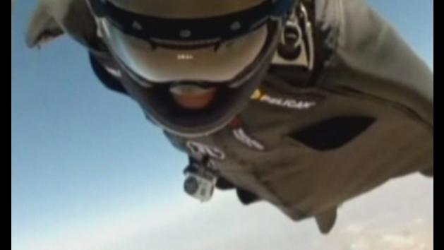 Stuntman set to fly through 5-metre gap between mountains