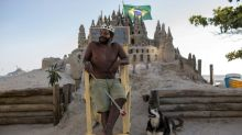 On a Rio beach, a man's home is his castle