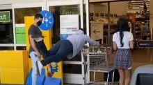 Magician performs insane levitation tricks