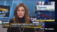 Pandora jumps 9 percent after reporting a large rise in subscription revenue