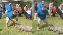 'Swamp People' star used an alligator to reveal the gender of his baby and the video is going viral