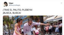 Aluvión de memes en Twitter con estas fotos de Felipe y Letizia en Benidorm