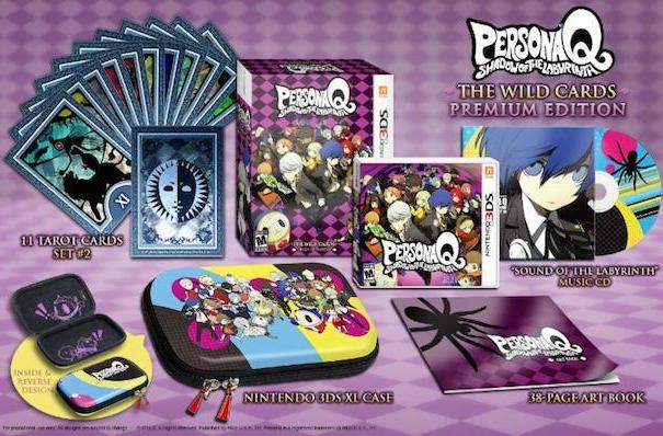 Persona Q's Wild Cards edition packs in a 3DS XL hard case