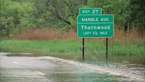 Lingering flood water around the New York area