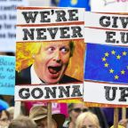 Anti-Brexit activists march to parliament as MPs delay decision