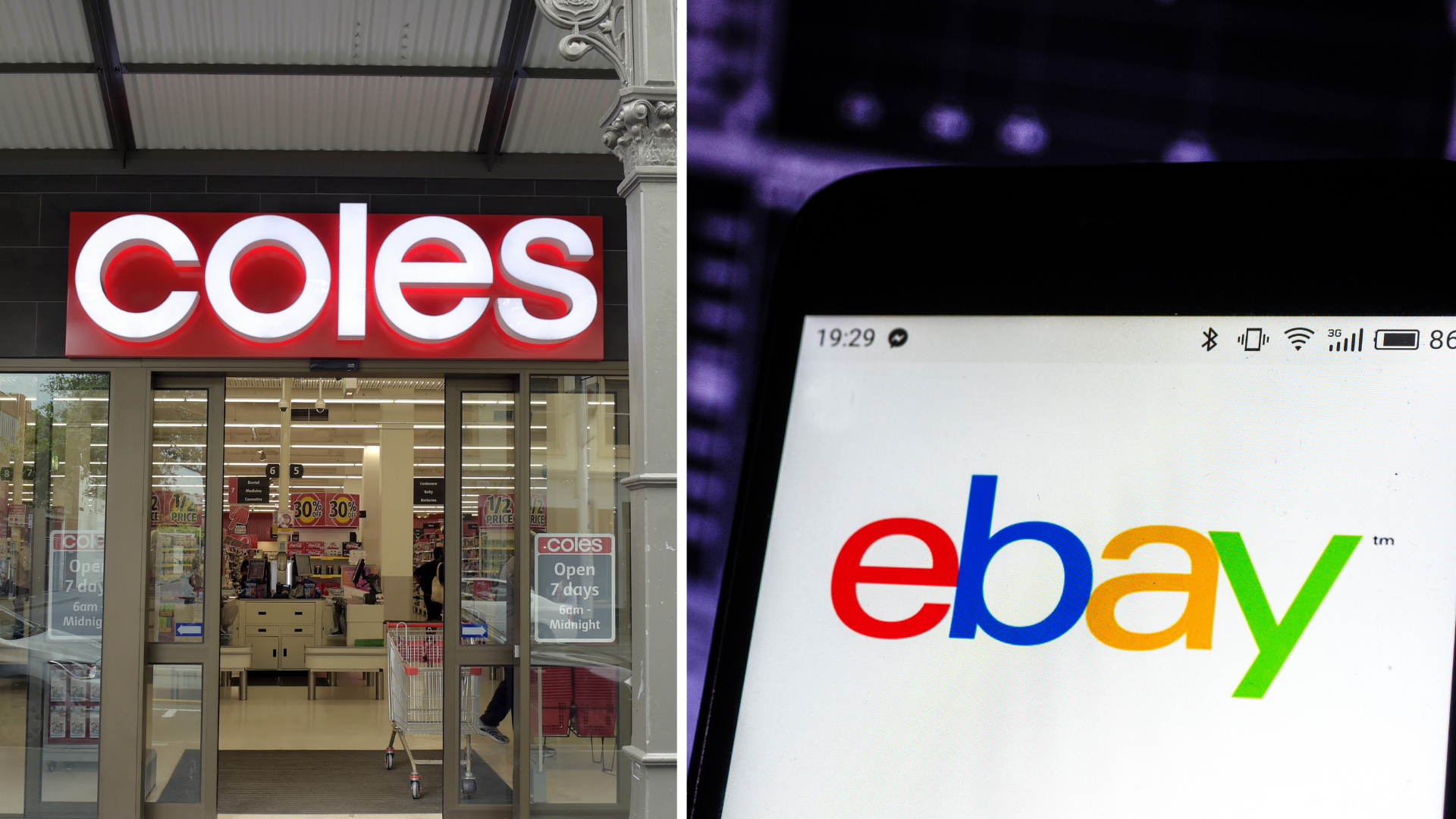 Supermarket Wars Coles Partners With Ebay To Drive Online Grocery Shopping