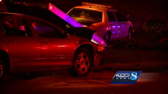 Officer involved in crash during high-speed chase