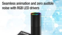 First 12-bit, 29-kHz RGB LED driver family enables vivid color and seamless animation with zero audible noise