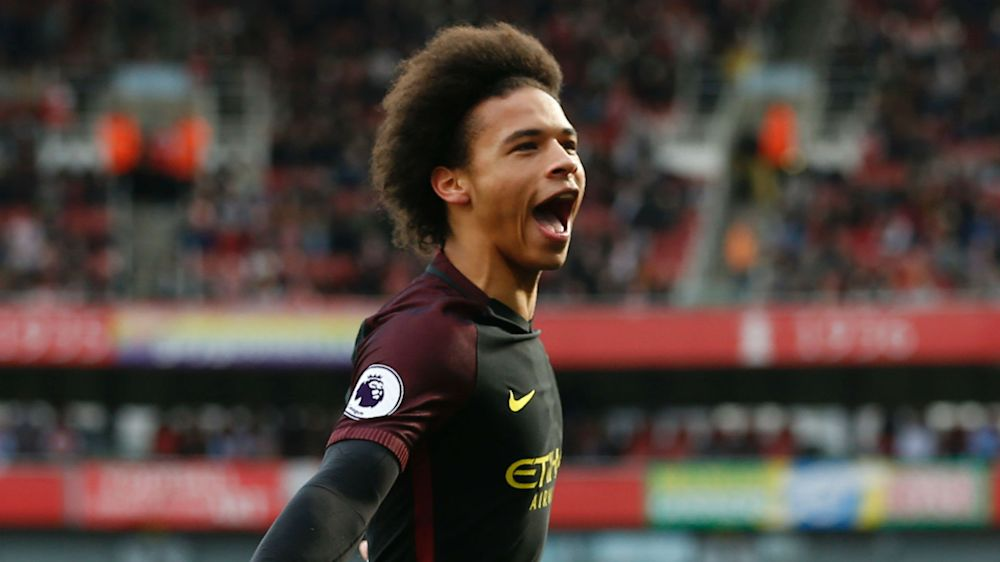 How does Man City winger Sane compare to former Guardiola target Mahrez?