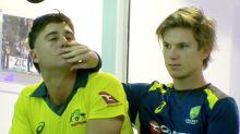 Aussie cricket stars' cheeky bromance steals the show