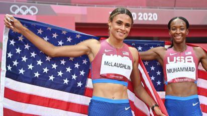 McLaughlin smashes world record in 400 hurdles duel