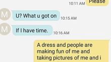 Girl's heartbreaking texts to her mum about being bullied go viral