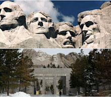 Disappointing photos show how small Mount Rushmore is in real life