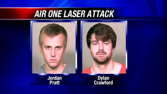 2 men arrested in Air One laser attack