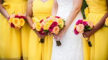 Bride considers changing bridesmaids' eye colours to match dresses