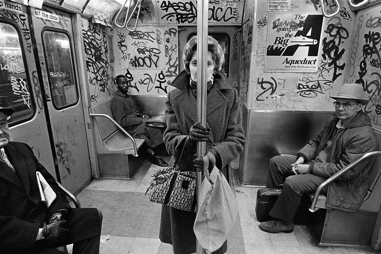 <p>CC train, New York City, 1982. (© Richard Sandler/The Eyes of the City) </p>