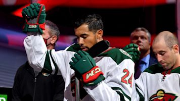 Wild's Dumba raises fist during national anthem
