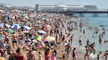 In pictures: Hottest August day for 15 years as temperatures hit 36 degrees