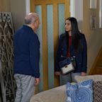Coronation Street's Alya Nazir confronts Geoff Metcalfe for lying over the hotel