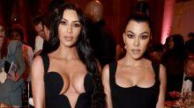 Kim and Kourtney Kardashian Rock Their Most Revealing Red Carpet Looks Yet
