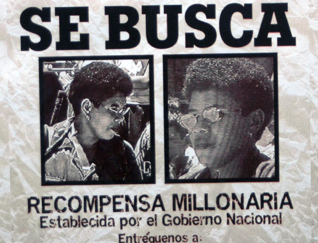 A 'Wanted' poster of Elda Neyis Mosquera offering a big reward (AFP Photo/)