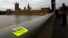 Police called to Westminster Bridge as protestor balances on ledge 20ft above Thames