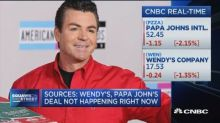 Wendy's-Papa John's deal talk are not ongoing, say source...