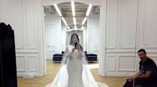 Kim Kardashian Shares Intimate Snaps from Her 2014 Wedding Dress Fitting