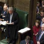 The Latest: UK speaker: Govt can't present same Brexit deal