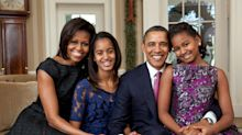 Michelle Obama says she fears for daughters Sasha and Malia 'every time they get in a car by themselves'