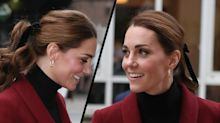 You'll want to copy the Duchess of Cambridge's velvet hair bow