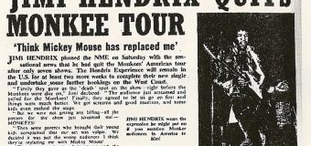 Hendrix's ill-fated tour opening for the Monkees