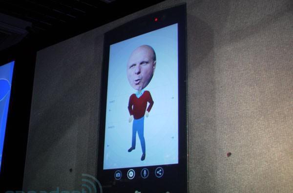 Ballmer's visage evoked for 'developers, developers, developers' demo app on Windows Phone 7 Series