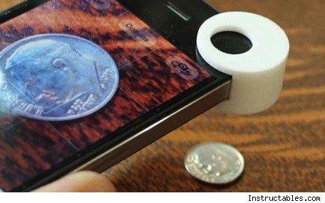 Build your own iPhone 4, 4S macro lens