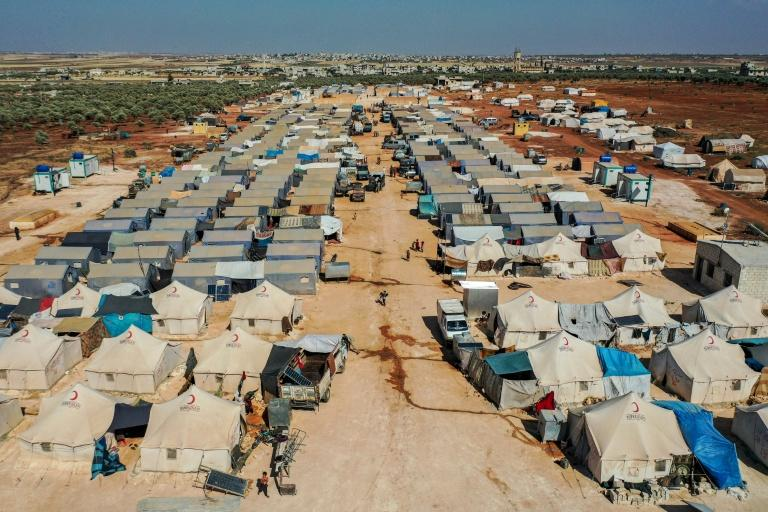 Azraq camp for displaced Syrians near the town of Maaret Misrin in rebel-held northwestern Idlib province, sheltering several hundred families displaced by Syria's conflict (AFP Photo/Omar HAJ KADOUR)