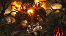 Alton Towers unveils 'Wicker Man' wooden rollercoaster featuring six-storey flaming structure
