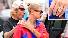 Already Married? Hailey Baldwin Wears Diamond Band Instead of Engagement Ring from Justin Bieber