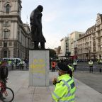 Teenager charged with defacing Churchill's London statue