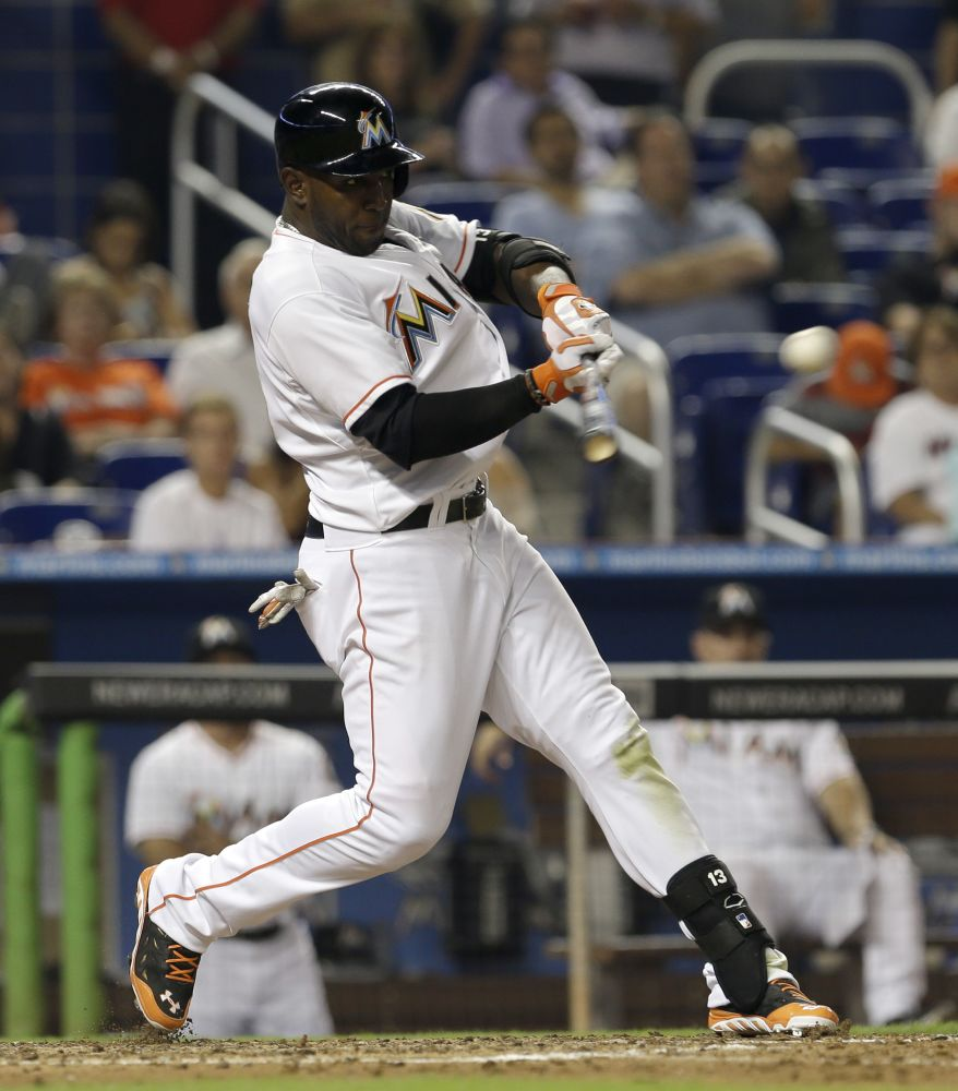 Ozuna hits grand slam, Marlins beat Phillies 14-5