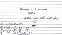 Desenhos de filhos mostram Gugu Liberato e Rose Miriam como família em cartas anexadas ao processo