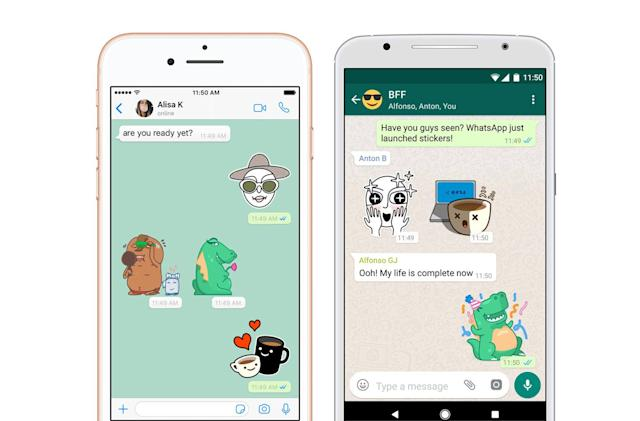 WhatsApp finally adds support for stickers