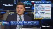Sky heads to auction as the Comcast-Fox bidding battle co...
